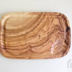 Steakbrett mit Saftrille 30 cm, Tranchierbrett, Holzbrett, Olivenholz Handarbeit Bild 1