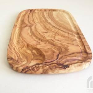 Steakbrett mit Saftrille 30 cm, Tranchierbrett, Holzbrett, Olivenholz Handarbeit Bild 5