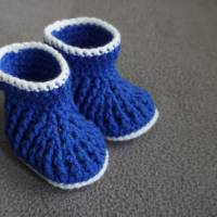 Babyschuhe Booties Boots Stiefel Größe 16  amigoll9  gehäkelt  Handarbeit Bild 3