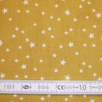 4 x 0,5m Stoffpaket, süße Schnecken, Sterne, Pünktchen petrol gelb Bild 10
