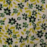 Viskose, leichter Frühlings-/ Sommerstoff Blüten Blumen weiß (1m/10,-€) Bild 3