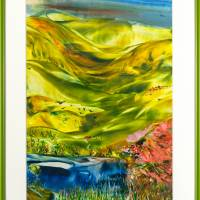 Weites Land - Original Encausticmalerei, gerahmtes Unikat Bild 1