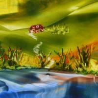 Weites Land - Original Encausticmalerei, gerahmtes Unikat Bild 4