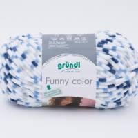 Gründl Funny blau color 03 Chenille Flauschgarn  Bild 1