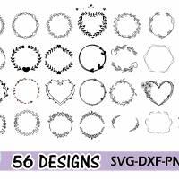 Plotterdatei Kranz Rahmen Umrandung SVG DXF PDF SVG Bild 2