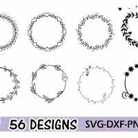 Plotterdatei Kranz Rahmen Umrandung SVG DXF PDF SVG Bild 3