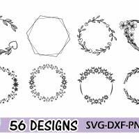 Plotterdatei Kranz Rahmen Umrandung SVG DXF PDF SVG Bild 5