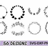 Plotterdatei Kranz Rahmen Umrandung SVG DXF PDF SVG Bild 6