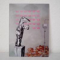 Frogsy, Druck hinter Acrylglas, Froschbild, Streetart, Banksy, Graffiti, Sprayart, Mural, Frosch Bild Bild 1