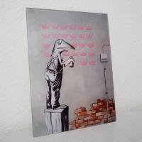 Frogsy, Druck hinter Acrylglas, Froschbild, Streetart, Banksy, Graffiti, Sprayart, Mural, Frosch Bild Bild 2