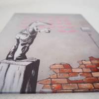 Frogsy, Druck hinter Acrylglas, Froschbild, Streetart, Banksy, Graffiti, Sprayart, Mural, Frosch Bild Bild 5