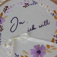 Ringkissen Hochzeit Stickring Blumenkranz Durchmesser 20cm Bild 2