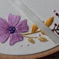 Ringkissen Hochzeit Stickring Blumenkranz Durchmesser 20cm Bild 3