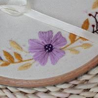 Ringkissen Hochzeit Stickring Blumenkranz Durchmesser 20cm Bild 4