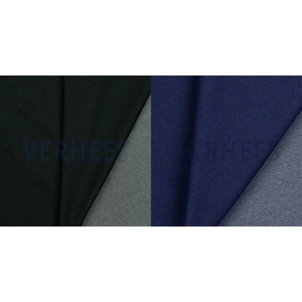 Sommersweat French Terry in Jeansoptik schwarz dunkelblau 50 x 150 cm Sweat  Bild 1
