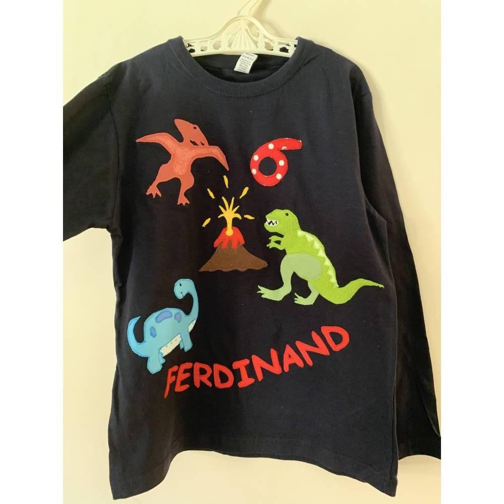 Schulkindshirt Junge Dino T-Rex Schultüte Einschulung  Bild 1