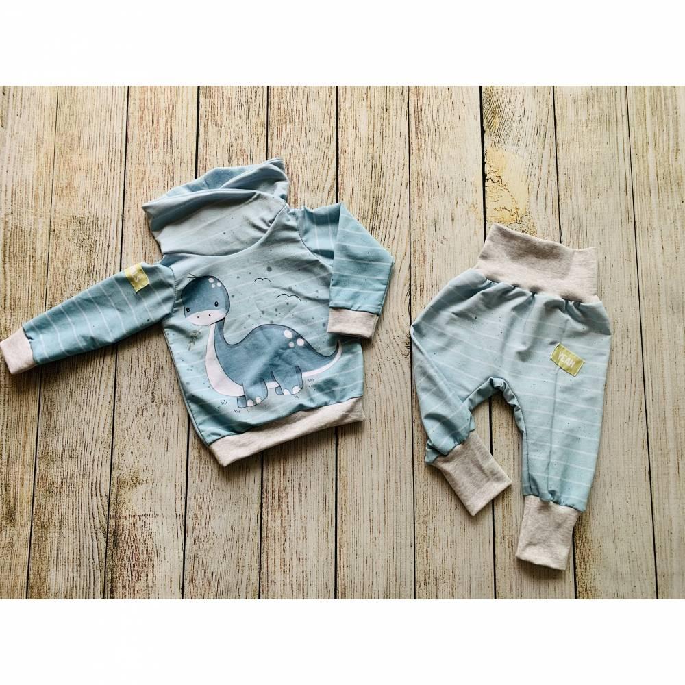 Jungen Set Dino Langhals Pullover und Pumphose Gr. 86/92 Bild 1