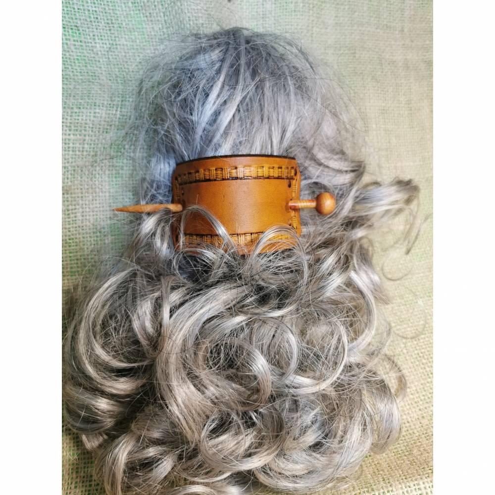Haarschmuck, Haarspange mit Punzierung (HS8)  Bild 1