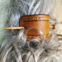 Haarschmuck, Haarspange mit Punzierung (HS8)  Bild 3
