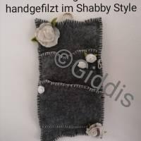 Wandorganizer handgefilzt-Shabby Style Bild 1