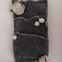 Wandorganizer handgefilzt-Shabby Style Bild 2