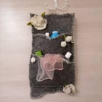 Wandorganizer handgefilzt-Shabby Style Bild 3