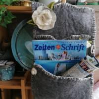 Wandorganizer handgefilzt-Shabby Style Bild 9