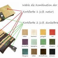 Geldbörse Kork vegan Farbwahl Portemonnaie Geldbeutel Damen Börse nachhaltig Bild 3