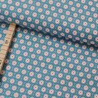Baumwolle, Webware Julia, Blumen auf blau - Swafing Bild 1