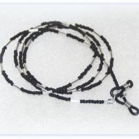 Brillenkette unisex schwarz matt und silberfarben, Brillenband, Sonnenbrillenband Bild 1