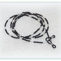 Brillenkette unisex schwarz matt und silberfarben, Brillenband, Sonnenbrillenband Bild 2