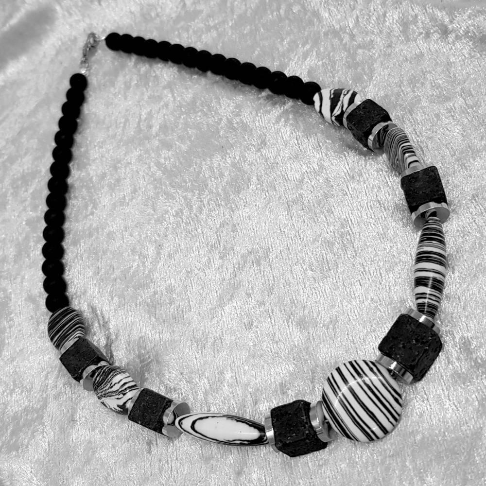 """Halskette """"Schwarz&Weiß"""", Collier Bild 1"""