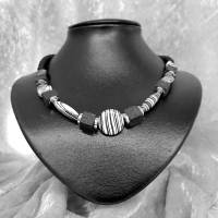 """Halskette """"Schwarz&Weiß"""", Collier Bild 2"""
