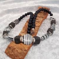 """Halskette """"Schwarz&Weiß"""", Collier Bild 4"""