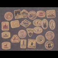 """Sticker-Set """"Poststempel"""", 20-teilig Bild 1"""