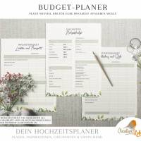 HOCHZEITSPLANER zum Ausdrucken |  Hochzeitsplanung DIY oder Planer für die Trauzeugin | DIN A4 | 170 Seiten Bild 2