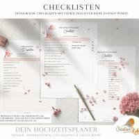 HOCHZEITSPLANER zum Ausdrucken |  Hochzeitsplanung DIY oder Planer für die Trauzeugin | DIN A4 | 170 Seiten Bild 3