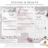 HOCHZEITSPLANER zum Ausdrucken |  Hochzeitsplanung DIY oder Planer für die Trauzeugin | DIN A4 | 170 Seiten Bild 4