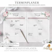 HOCHZEITSPLANER zum Ausdrucken |  Hochzeitsplanung DIY oder Planer für die Trauzeugin | DIN A4 | 170 Seiten Bild 5