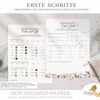 HOCHZEITSPLANER zum Ausdrucken |  Hochzeitsplanung DIY oder Planer für die Trauzeugin | DIN A4 | 170 Seiten Bild 6