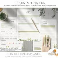 HOCHZEITSPLANER zum Ausdrucken |  Hochzeitsplanung DIY oder Planer für die Trauzeugin | DIN A4 | 170 Seiten Bild 7
