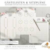HOCHZEITSPLANER zum Ausdrucken |  Hochzeitsplanung DIY oder Planer für die Trauzeugin | DIN A4 | 170 Seiten Bild 8