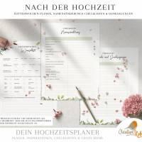 HOCHZEITSPLANER zum Ausdrucken |  Hochzeitsplanung DIY oder Planer für die Trauzeugin | DIN A4 | 170 Seiten Bild 9