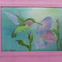 Sommertasche 'Karibik' mit Kolibri der Vogelmalerin, Unikat von hessmade Bild 2