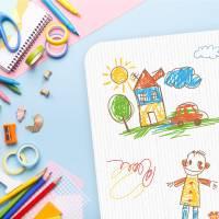 stabile Vinyl Schreibtischunterlage Kinderkritzelei Bastelmatte Kinder Platzset - BPA frei - abwaschbar Bild 3
