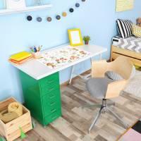 stabile Vinyl Schreibtischunterlage Kinderkritzelei Bastelmatte Kinder Platzset - BPA frei - abwaschbar Bild 4