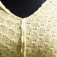 Strickponcho, Überwurf, Schulterwärmer gelb Bild 3