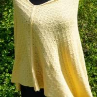 Strickponcho, Überwurf, Schulterwärmer gelb Bild 4