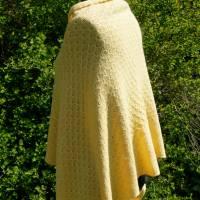 Strickponcho, Überwurf, Schulterwärmer gelb Bild 6