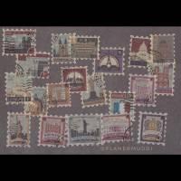 """Sticker-Set """"Briefmarken"""", 20-teilig  Bild 1"""